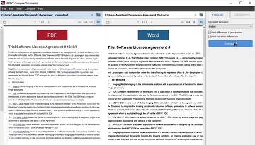 How to Compare Word document vs PDF