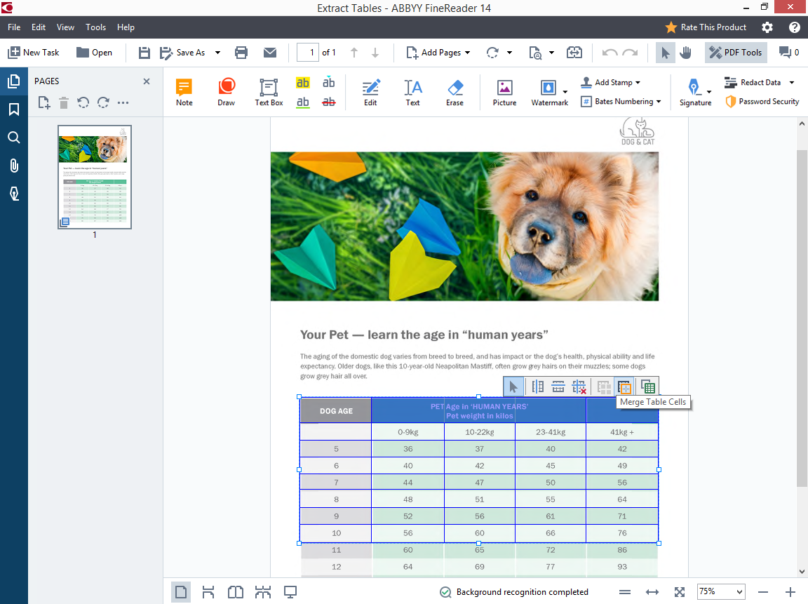 Adjust cells in a selected table and copy & paste it into Excel