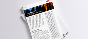 Process Intelligence for Financial Services - ABBYY Timeline Brochure