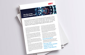 Digital Twin infrastructure - ABBYY Brochure
