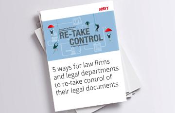 Cinco formas que tienen los bufetes y los departamentos jurídicos para volver a tener el control de sus documentos jurídicos