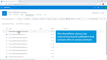How to make Microsoft SharePoint libraries fully searchable